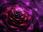Beautiful and romantic flower, modern fractal art design — Stockfoto
