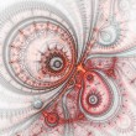 diseño abstracto de reloj steampunk, obra de arte digital fractal — Foto de Stock