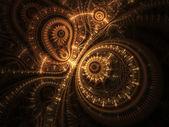 Abstract design of steampunk watch, digital fractal artwork — Stock Photo