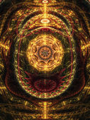 Conception abstraite de steampunk sur des roulettes, oeuvre numérique fractal — Photo