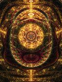 Abstract design of steampunk clockwork, digital fractal artwork — Stock Photo