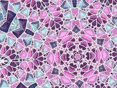 Stained glass window, religious motive, digital fractal artwork — Stock Photo