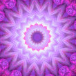 Stock Photo: Spiritual mandalwheel or chakrsymbol, digital fractal artwork