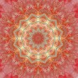 Stock Photo: Mandalof happiness, fractal art kaleidoscope design, abstract illustration