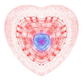 Gentle and soft heart, digital fractal artwork, abstract illustration — Stock Photo