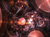 Fractal abstracion of alien danger, digital design suitable for usage as illustration or background — Stock Photo