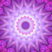 Spiritual mandala wheel or chakra symbol, digital fractal artwork — Stock Photo