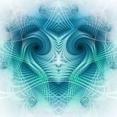 Blue fractal heart, digital artwork, valentine's day theme — Stock Photo