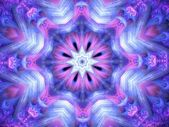 Spiritual mandala or chakra symbol, fractal art design, abstract illustration — Stock Photo