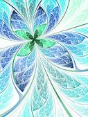 Light flower or butterfly, digital fractal art design — Stock Photo