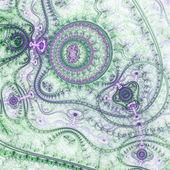 Light and colorful clockwork, digital fractal art pattern — Stock Photo