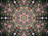 Colorful and detailed mandala or chakra symbol, fractal art — Stock fotografie