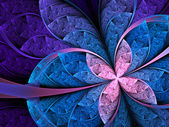 Colorful flower or butterfly, digital fractal art design — Stock Photo