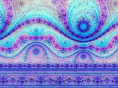 Patrón de colores de un reloj, arte fractal digital, Ilustración abstracta — Foto de Stock