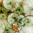 Stock Photo: Spring themed abstract floral pattern, digital fractal art