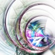 Stock Photo: Colorful web, digital fractal art, dynamic abstract design
