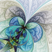 Colorful abstract flower or butterfly, digital fractal art — Zdjęcie stockowe
