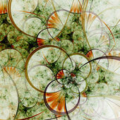Spring themed abstract floral pattern, digital fractal art — Zdjęcie stockowe