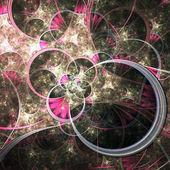 Temática abstracta patrón floral primavera, arte fractal digital — Foto de Stock