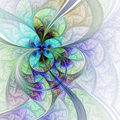 Light colorful flower or butterfly, digital fractal art — Stock Photo