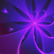 Romantic love themed fractal flower, abstract digital art — Stock Photo