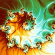 Stock Photo: Shiny electric spiral, digital fractal art design or illustration