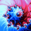 Shiny electric spiral, digital fractal art design or illustration — Стоковая фотография