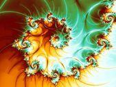 Shiny electric spiral, digital fractal art design or illustration — Stock Photo