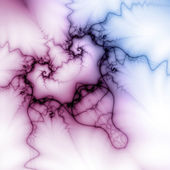 Heart sparkling with electricity, fractal artwork for valentine's day — Stock Photo