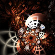 Stock Photo: Shiny abstract flower or butterfly, digital fractal art