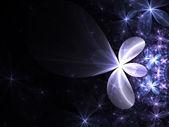 Blue and violet floral pattern, digital fractal art design — Stock Photo