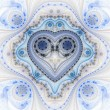 Clockwork valentine's day motive, fractal heart, digital art — Stock Photo #24598507