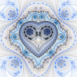 Clockwork valentine's day motive, fractal heart, digital art — Stock Photo