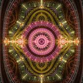 Shiny colorful clockwork pattern, steampunk style, digital art — Stock Photo