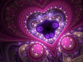 Lacy valentine's day motive, fractal heart, digital art — Stock Photo