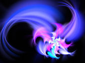 Feathery colorful fractal flower, digital artwork for creative graphic design — Stock Photo
