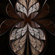 Abstract hourglass, flower or butterfly, digital artwork for creative graphic design — 图库照片