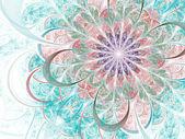 Light colorful fractal flower, digital artwork for creative graphic design — Stock Photo