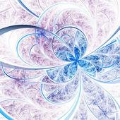 Fractal suave flor o mariposa, obra de arte digital para diseño gráfico creativo — Foto de Stock