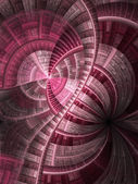 Vivid pink fractal stained glass, digital artwork for creative graphic design — Stock Photo
