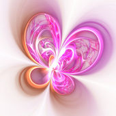 Colorful fractal flower or butterfly, digital artwork for creati — Stock Photo