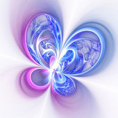 Colorful fractal flower or butterfly, digital artwork for creative graphic design — Stock Photo
