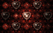 Fractal hearts pattern, elegant and stylish valentine's day design — Stock Photo