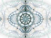 Star themed fractal clockwork, digital artwork for creative graphic design — Stock Photo