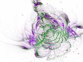 Vivid green fractal flower, digital artwork for creative graphic design — Stock Photo