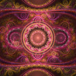 Colorful detailed fractal clockwork, digital artwork for creative graphic design — Photo