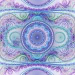 reloj colorido fractal detalladas, ilustraciones digitales para diseño gráfico creativo — Foto de Stock