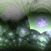Vivid fractal floral pattern, digital artwork for creative graphic design — Stock Photo