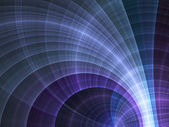 Glossy dark curved fractal lines, digital artwork for creative graphic design — Stock Photo
