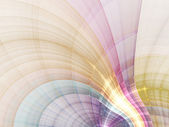 Colorful and gentle curved fractal lines, digital artwork for creative graphic design — Stock Photo